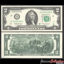 ETATS UNIS / USA - Billet de 2 DOLLARS - Thomas Jefferson - 2017A - B(2) - New York P545bB