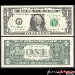 ETATS UNIS / USA - Billet de 1 DOLLAR - A(1) Boston - George Washington - Etoile - 2009 P530aAr