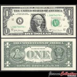 ETATS UNIS / USA - Billet de 1 DOLLAR - L(12) San Francisco - George Washington - Etoile - 2017 P544aLr