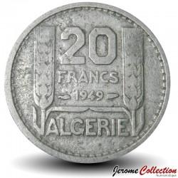 ALGÉRIE - PIECE de 20 Francs - 1949 Km#91