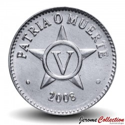 CUBA - PIECE de 5 CENTAVOS - Armoiries de Cuba - 2008 Km#34