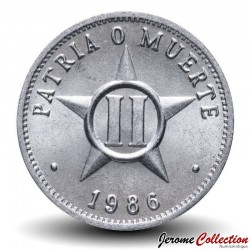 CUBA - PIECE de 2 CENTAVOS - Armoiries de Cuba - 1986 Km#104