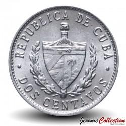 CUBA - PIECE de 2 CENTAVOS - Armoiries de Cuba - 1985