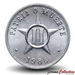 CUBA - PIECE de 2 CENTAVOS - Armoiries de Cuba - 1985 Km#104