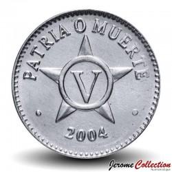CUBA - PIECE de 5 CENTAVOS - Armoiries de Cuba - 2004 Km#34