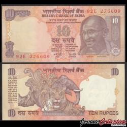 INDE - Billet de 10 Roupies - Mahatma Gandhi - Lettre A - 2002 P89p