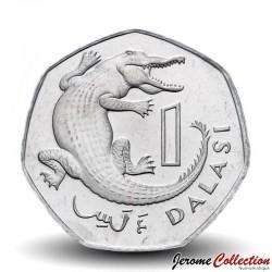GAMBIE - PIECE de 1 Dalasi - Crocodile - 2011 Km#59a