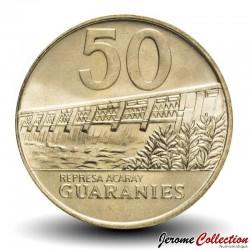 PARAGUAY - PIECE de 50 Guaranies - Maréchal José Félix Estigarribia - 1992