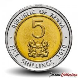 KENYA - PIECE de 5 shillings - Bimétal - Jomo Kenyatta - 2010 Km#37.1