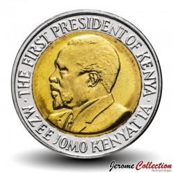 KENYA - PIECE de 5 shillings - Bimétal - Jomo Kenyatta - 2010