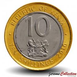 KENYA - PIECE de 10 shillings - Bimétal - Jomo Kenyatta - 2010