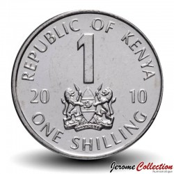 KENYA - PIECE de 1 shilling - Mzee Jomo Kenyatta - 2010 Km#34