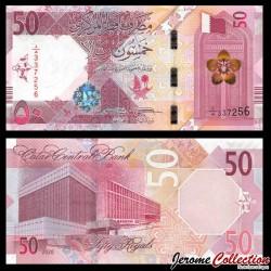 QATAR - Billet de 50 Riyals - Bâtiments publics - 2020 P35a