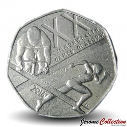 ROYAUME UNI - PIECE de 50 Cents - XX Jeux du Commonwealth, Glasgow - 2014 Sp#H28