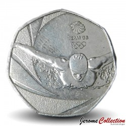 ROYAUME UNI - PIECE de 50 Cents - Team GB Olympique - 2016 Sp#H38