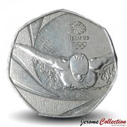 ROYAUME UNI - PIECE de 50 Pence - Team GB Olympique - 2016 Km#1375