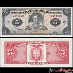 EQUATEUR - Billet de 5 Sucres - 1983