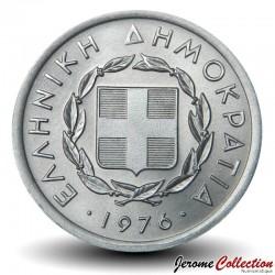 GRECE - PIECE de 10 Lepta - Un taureau - 1976