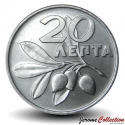 GRECE - PIECE de 20 Lepta - branche d'olivier - 1973 Km#105