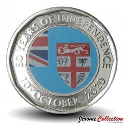 FIDJI - PIECE de 50 CENTS - 50 ans de l'indépendance - 2020 Km#new