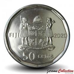 FIDJI - PIECE de 50 CENTS - 50 ans de l'indépendance - 2020