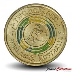AUSTRALIE - PIECE de 2 Dollars - Coupe du monde de Rugby - Les wallabies - 2019 Km#NEW
