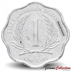 CARAIBE ORIENTALE - PIECE de 1 Cent - 1991 Km#10