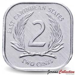 CARAIBE ORIENTALE - PIECE de 2 Cents - 1998 Km#11