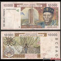 Banque Centrale des Etats de l'Afrique de l'Ouest / SENEGAL - Billet de 10000 Francs - K - 2000 P714Ki