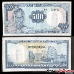 SUD VIETNAM - Billet de 500 Dong - Trân-Hu'ng-Ğao - 1966 P23a