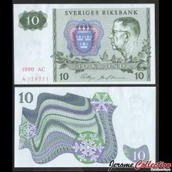 SUEDE - Billet de 10 Couronnes - Le roi Gustave VI Adolf - 1990 P52e8
