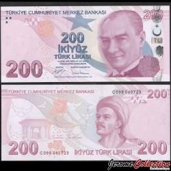 TURQUIE - Billet de 200 Livre Turque - Yunus Emre - 2017 P227c