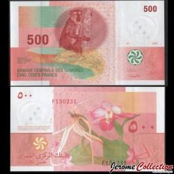 COMORES - Billet de 500 francs - 2006 P15a