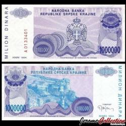 CROATIE / KRAJINA - BILLET de 10000 Dinars - Forteresse de Knin - 1994 PR33a