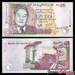 MAURICE - Billet de 25 Roupies - Sir Moilin Jean Ah-Chuen - 2006 P49c