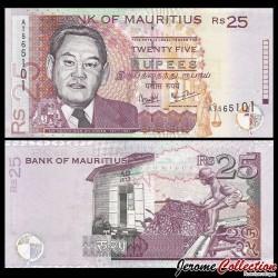 MAURICE - Billet de 25 Roupies - Sir Moilin Jean Ah-Chuen - 2003 P49b