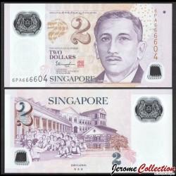 SINGAPOUR - Billet de 2 DOLLARS - Polymer - Education - ☆☆☆ - 2019 P46m