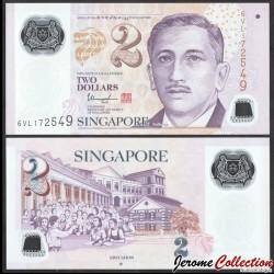 SINGAPOUR - Billet de 2 DOLLARS - Polymer - Education - ☆ - 2016 P46j