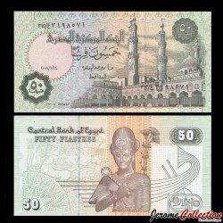 EGYPTE - Billet de 50 Piastres - Ramses II - 24/1/2008 P62o.1