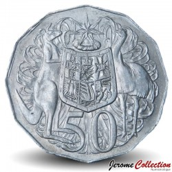 AUSTRALIE - PIECE de 50 Cents - Elizabeth II 2ème effigie - 1969