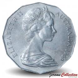 AUSTRALIE - PIECE de 50 Cents - Elizabeth II 2ème effigie - 1969 Km#68