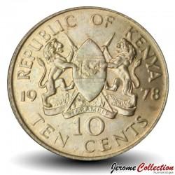 KENYA - PIECE de 10 Cents - Mzee Jomo Kenyatta - 1978