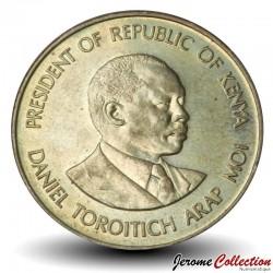 KENYA - PIECE de 10 Cents - Président Arap Moi - 1984 Km#18
