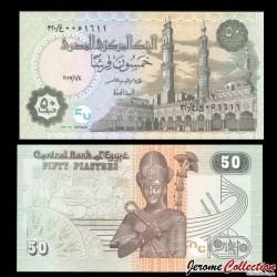 EGYPTE - Billet de 50 Piastres - Ramses II - 04/01/2017