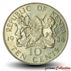 KENYA - PIECE de 10 Cents - Président Arap Moi - 1984