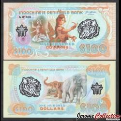 PENINSULE INDOCHINOISE - Billet de 100 Dollars - Elephants - Polymer - 2020 0100