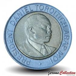 KENYA - PIECE de 10 shillings - Bimétal - Président Arap Moi - 1997