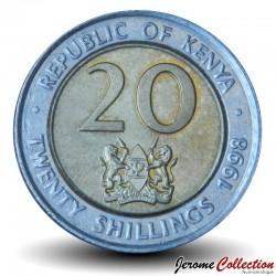 KENYA - PIECE de 20 shillings - Bimétal - Président Arap Moi - 1998 Km#32