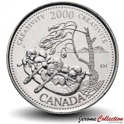 CANADA - PIECE de 25 CENTS - Série Millénium - Créativité - 2000 Km#379