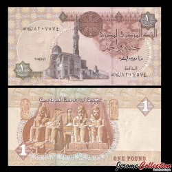 EGYPTE - Billet de 1 Pound - Temple de Louxor - 10/01/2007